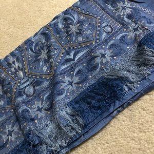 Beautiful Paper Silk Grey Blue Saree